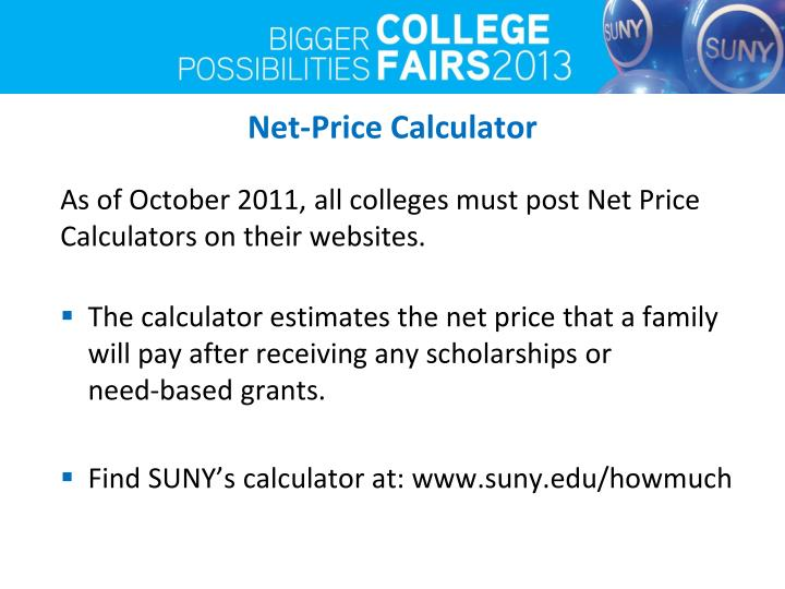 Net-Price Calculator