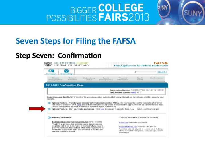 Seven Steps for Filing the FAFSA