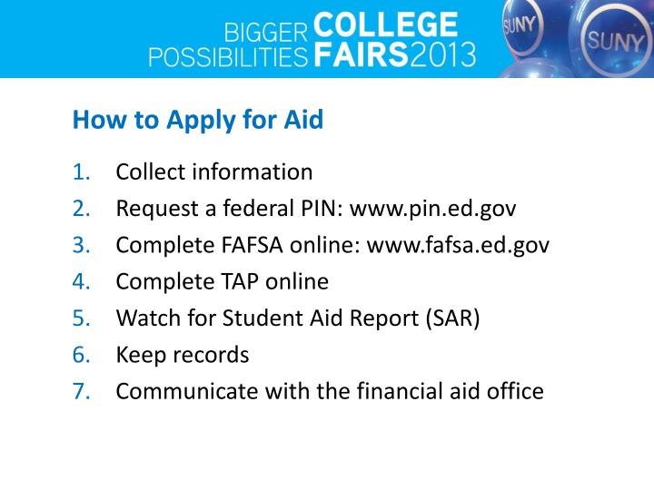 How to Apply for Aid