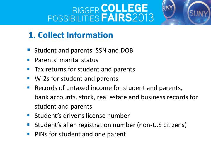 1. Collect Information