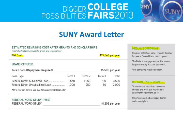 SUNY Award Letter