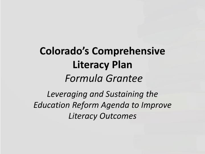 Colorado's Comprehensive