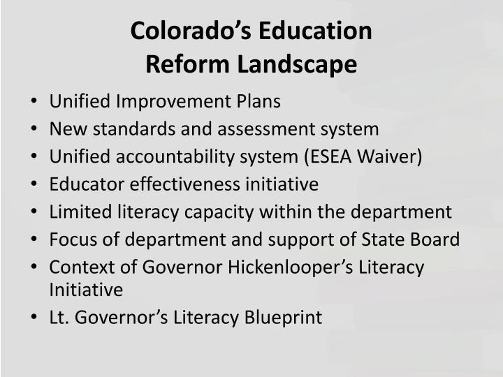 Colorado's Education