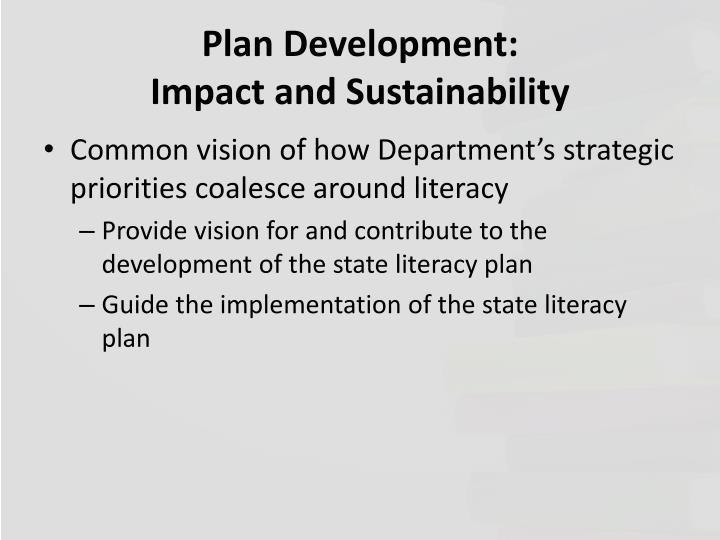 Plan Development: