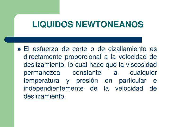 LIQUIDOS NEWTONEANOS