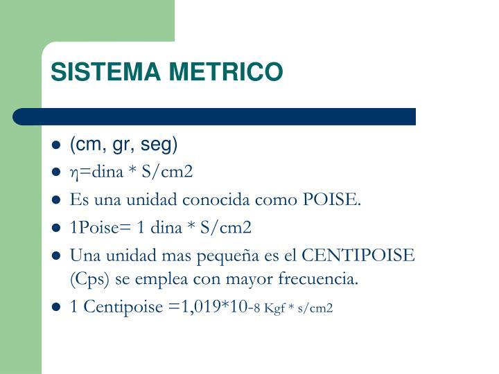 SISTEMA METRICO