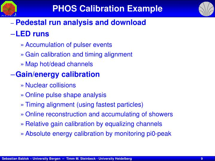 PHOS Calibration Example