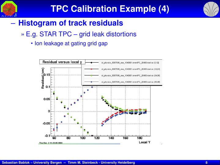 TPC Calibration Example (4)