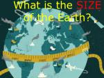 what is the size of the earth