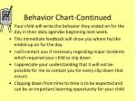 behavior chart continued
