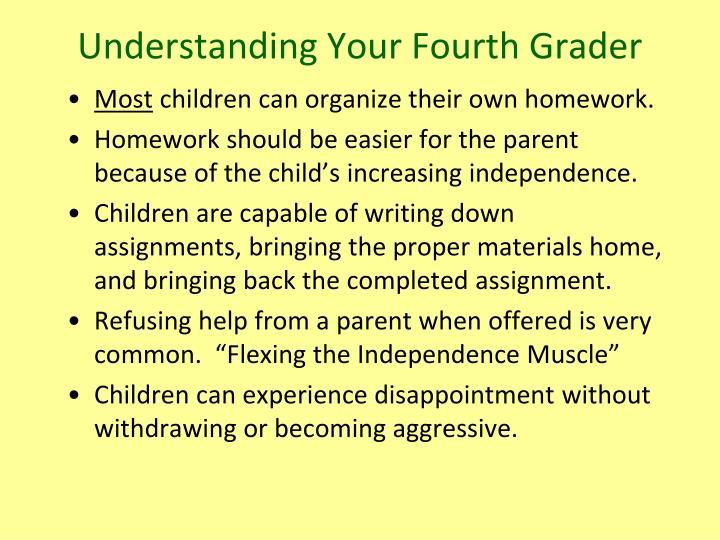 Understanding Your Fourth Grader