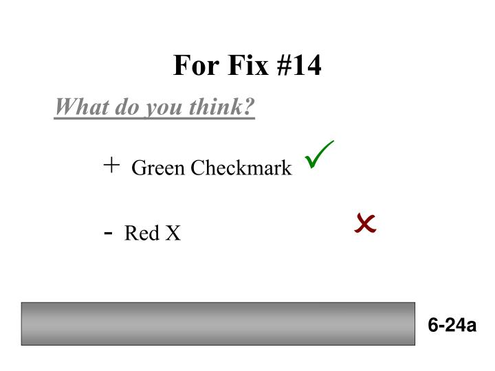 For Fix #14
