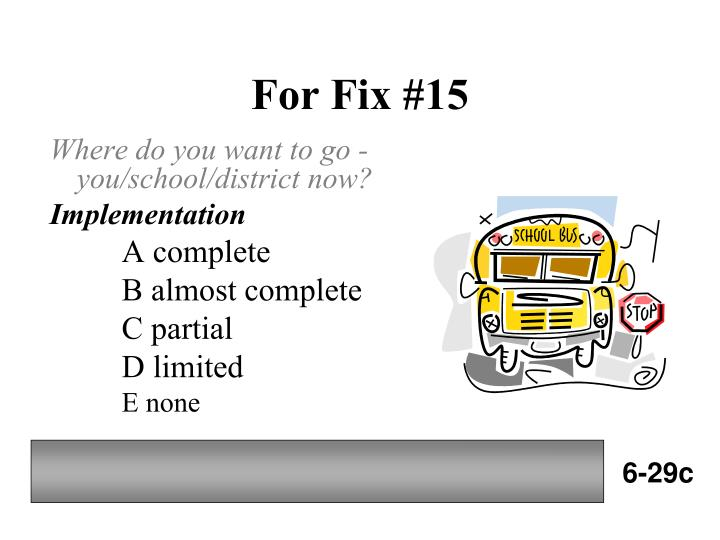 For Fix #15