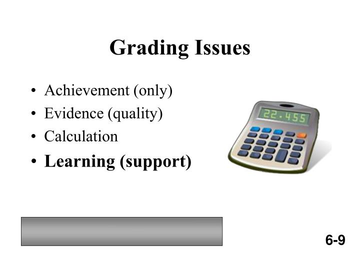 Grading Issues