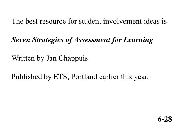 The best resource for student involvement ideas is