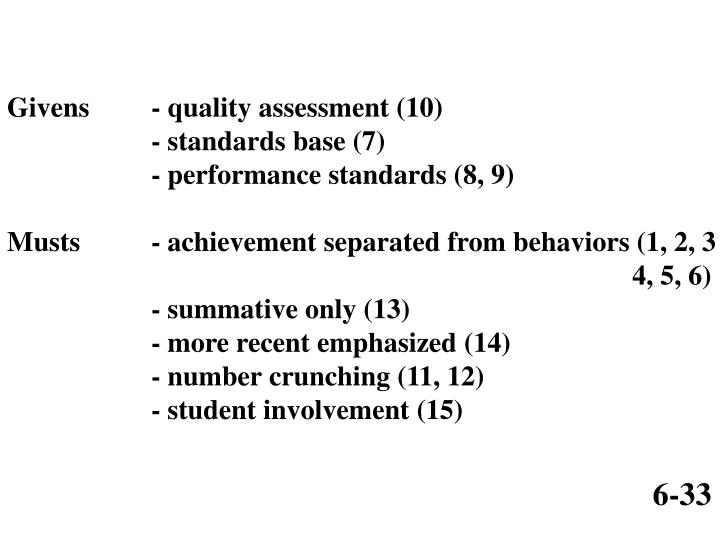 Givens- quality assessment (10)