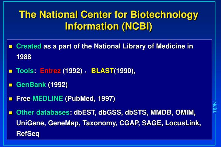 pubmed ncbi medline