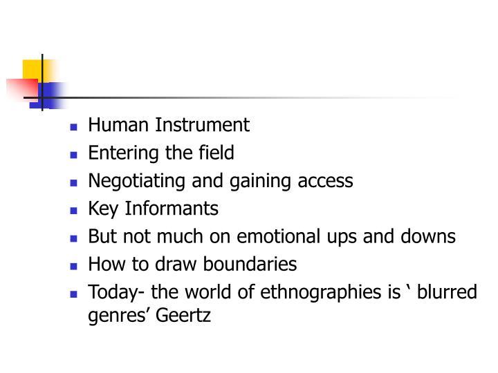 Human Instrument