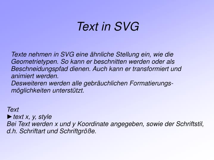 Text in SVG