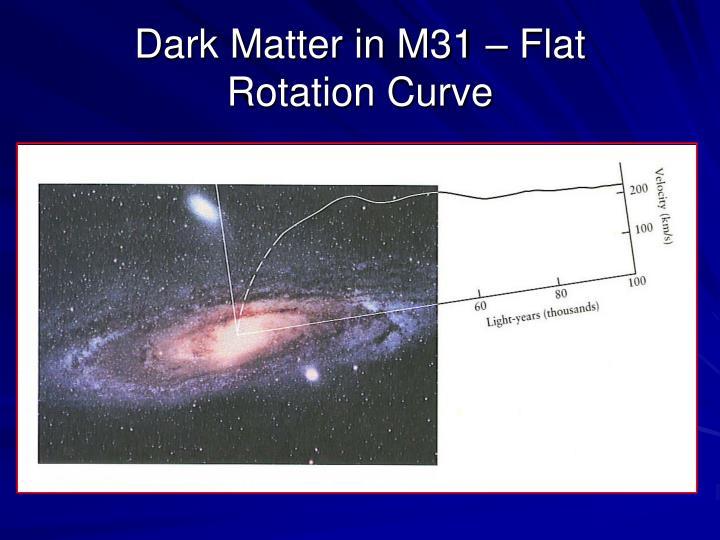 Dark Matter in M31 – Flat
