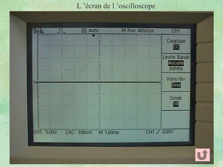 L'écran de l'oscilloscope