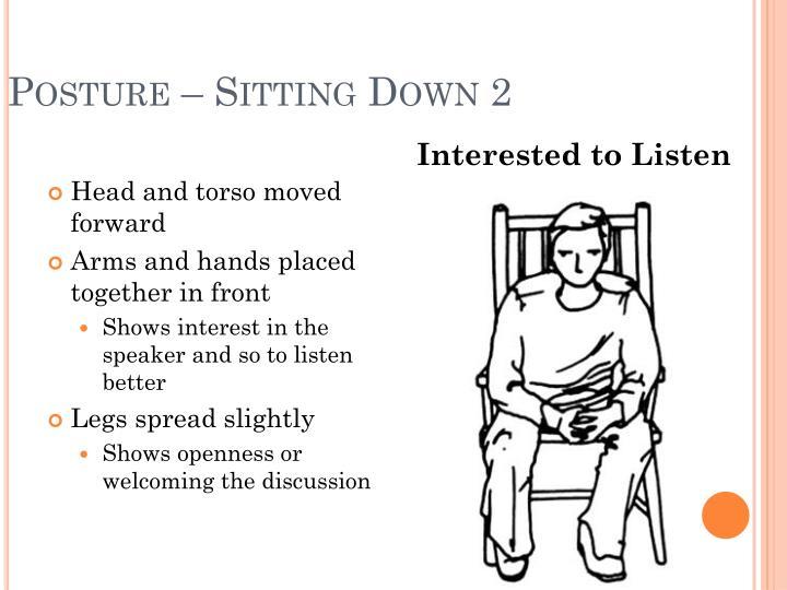 Posture – Sitting Down 2