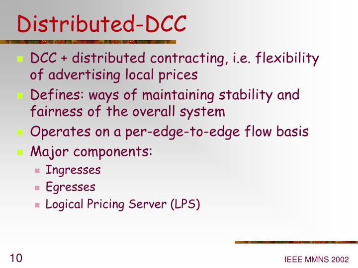 Distributed-DCC