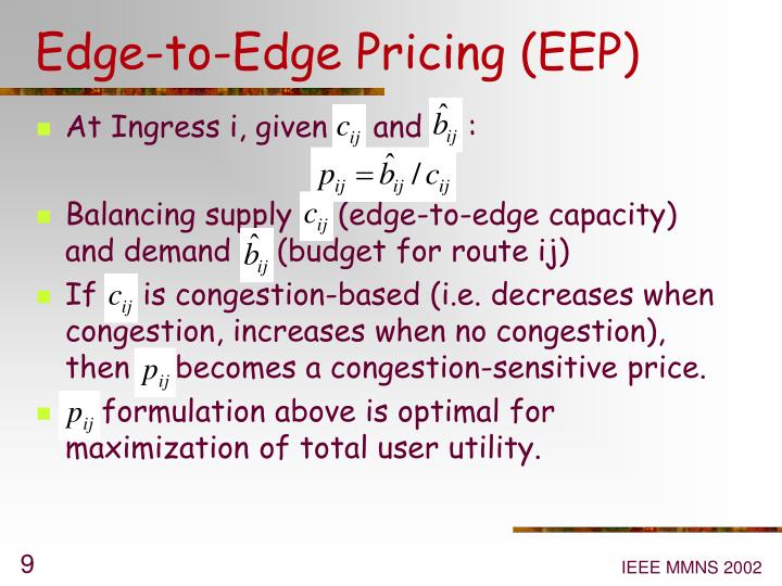 Edge-to-Edge Pricing (EEP)