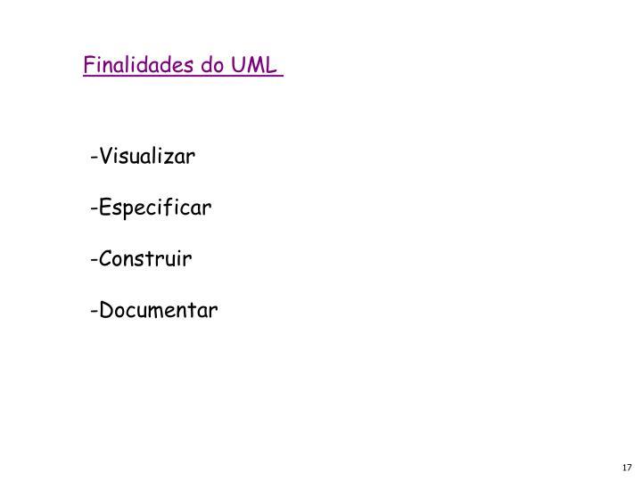 Finalidades do UML