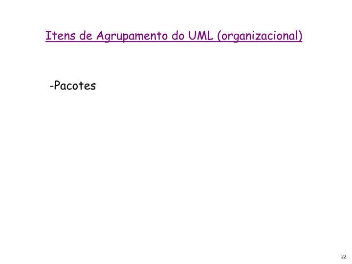 Itens de Agrupamento do UML (organizacional)