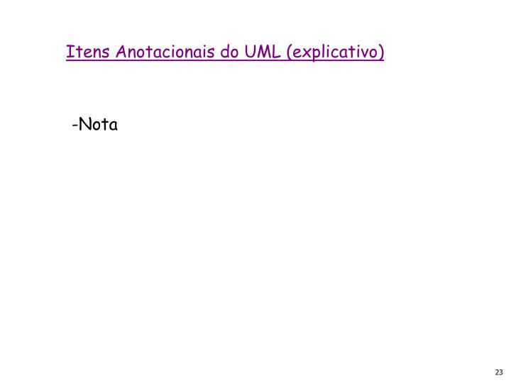 Itens Anotacionais do UML (explicativo)