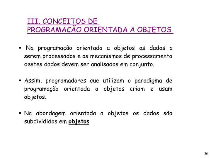 III. CONCEITOS DE