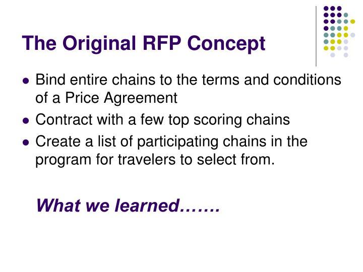 The Original RFP Concept