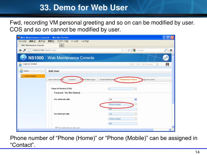 33. Demo for Web User