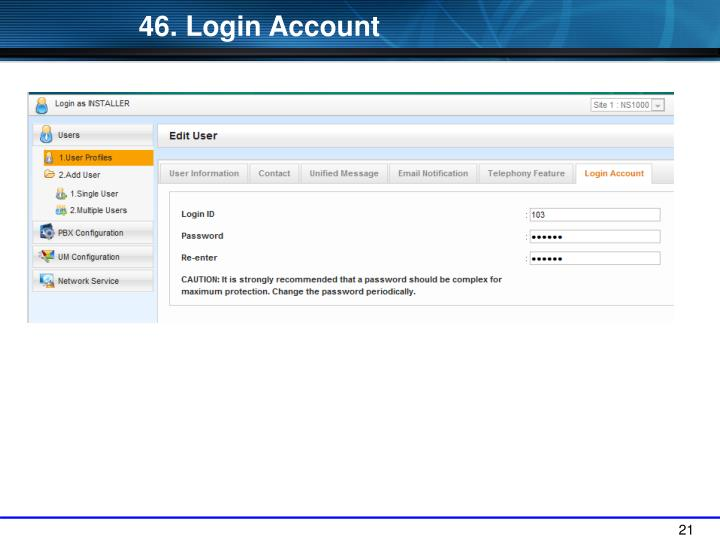 46. Login Account