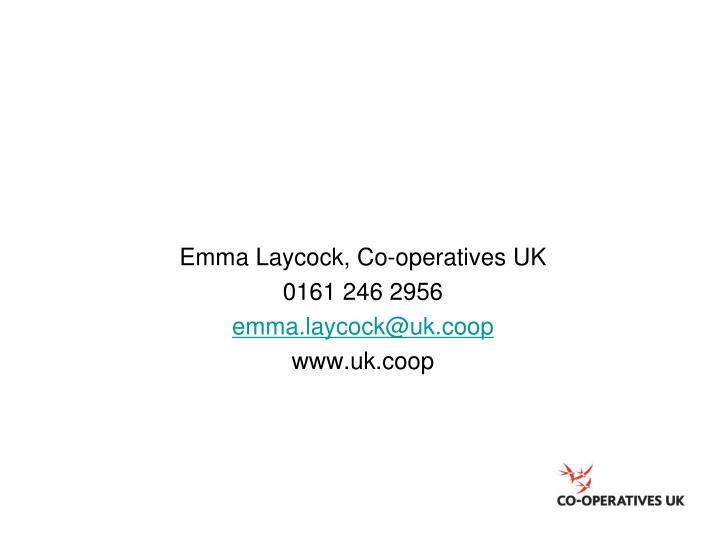 Emma Laycock, Co-operatives UK