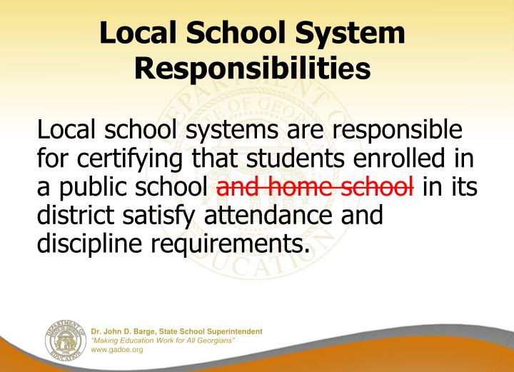 Local School System Responsibiliti