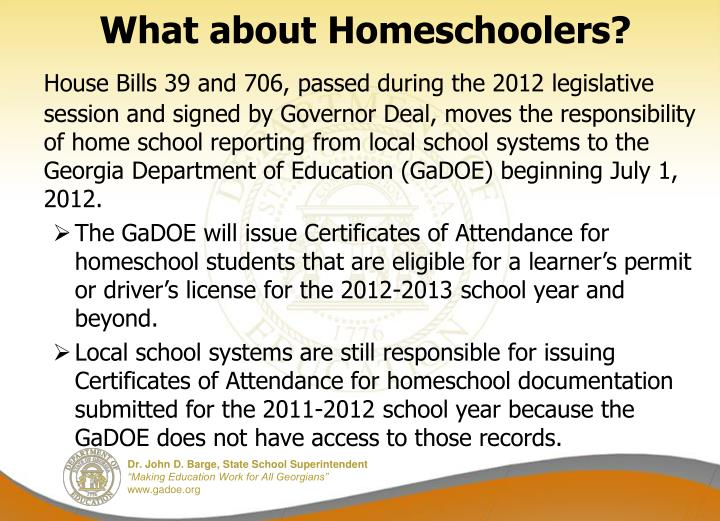 What about Homeschoolers?