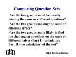 comparing question sets