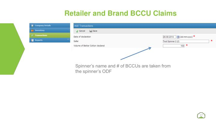 Retailer and Brand BCCU Claims