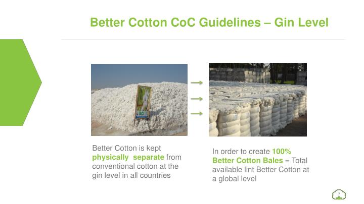 Better Cotton CoC