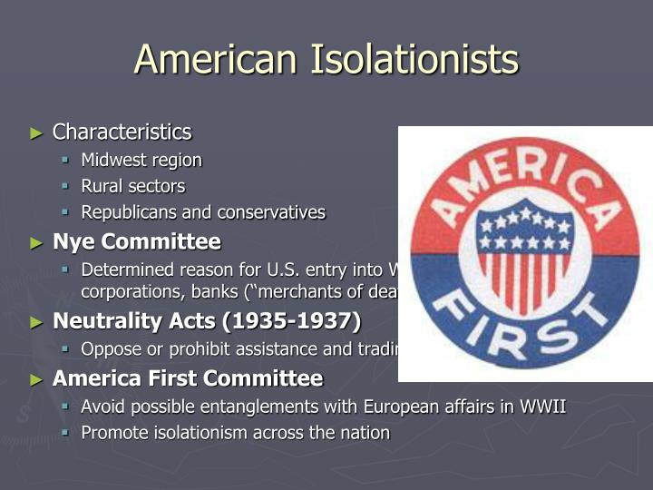 American Isolationists