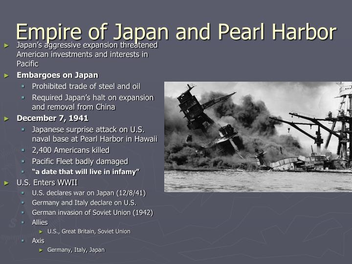 Empire of Japan and Pearl Harbor