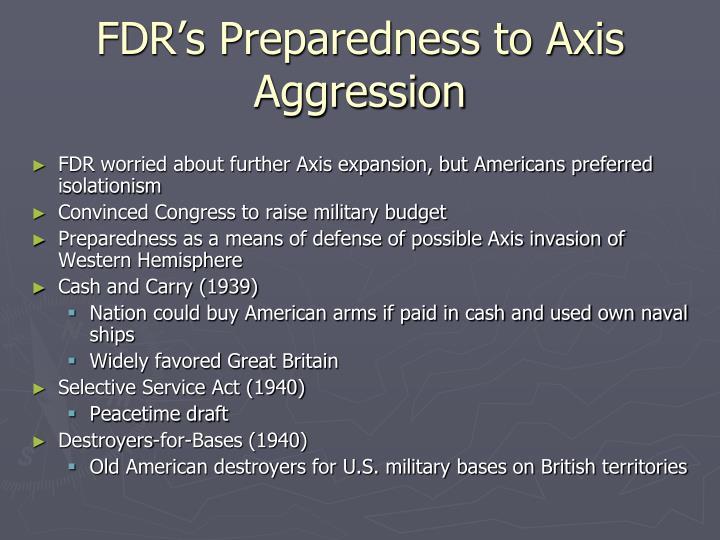 FDR's Preparedness to Axis Aggression