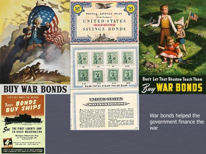 War bonds helped the