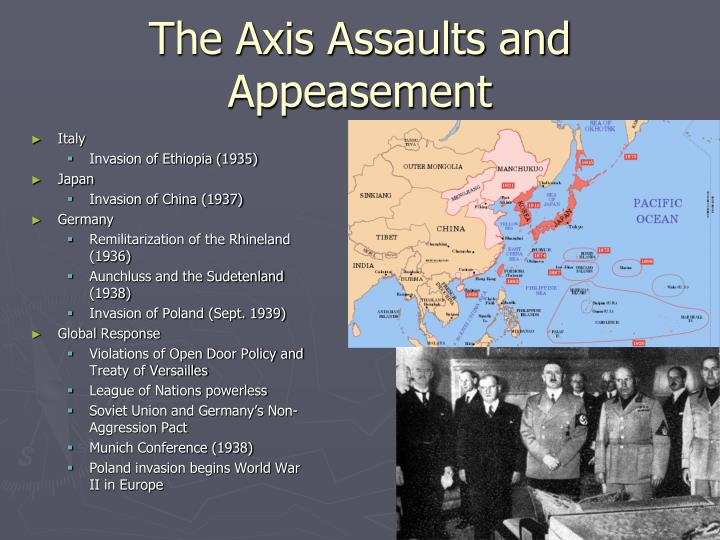 The Axis Assaults and Appeasement