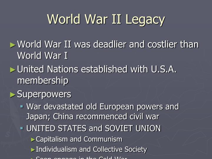 World War II Legacy