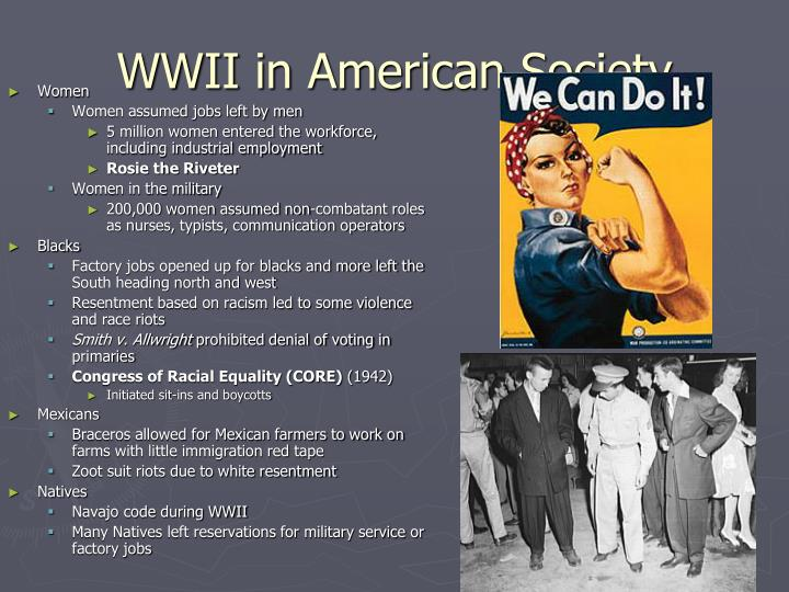 WWII in American Society