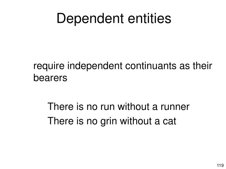Dependent entities
