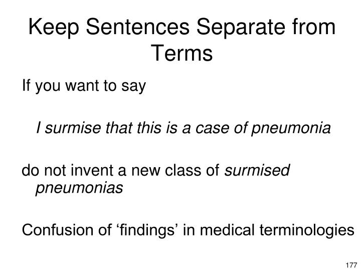 Keep Sentences Separate from Terms